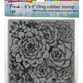 Stampendous Cling Stamps-Succulents