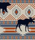 Anti-Pill Fleece Fabric 58\u0022-Wilderness Aztec Stripe