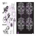 Prima Marketing Georgia Blues 12 pk Cling Rubber Stamps with Stencil
