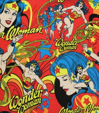 DC Comics Wonder Woman Flannel Fabric -Burst Print