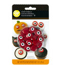 Wilton Halloween 1 oz. Spooky Candy Eyeballs-Red & White