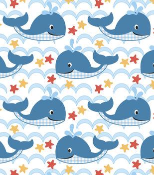 Nursery Flannel Fabric -Sea Waves