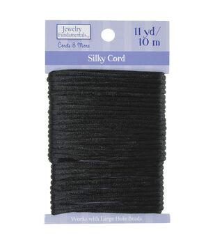 Jewelry Fundamentals Cords & More Silky Cord, Black