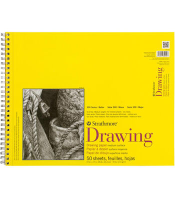 Strathmore 300 Series 50 Sheets 14''x17'' Wire Bound Drawing Pad