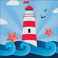 RTO Diamond Mosaic Embroidery Kit 15X15cm-Starry Lighthouse