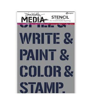 """Dina Wakley Media Stencils 9""""X6""""-What We Do"""
