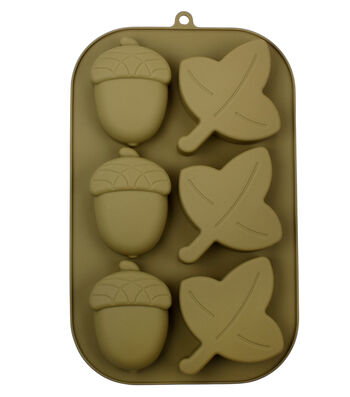 Silicone Treat Mold 7''x11''-Acorns & Leaves