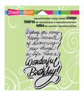 Stampendous Cling Stamp-Birthday Wish