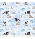 Snuggle Flannel Fabric 43\u0027\u0027-Arctic Friends