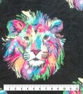 Anti-Pill Plush Fleece Fabric-Multi Color Lion