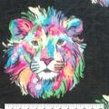 Anti-Pill Plush Fleece Fabric-Multi Lions
