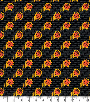 Phoenix Suns Toss Wordmark Nba Fleece Fabric Joann