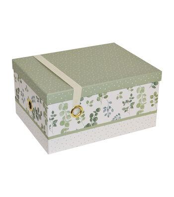 Large Steamer Storage Box with Elastic Strap-Garden Plaid