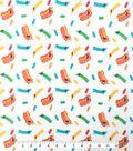Doodles Cotton Fabric 57\u0022-Hot Dog Heaven