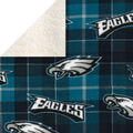Philadelphia Eagles Sherpa & Fleece Fabric-Plaid