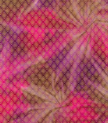 Legacy Studio Batik Fabric 44''-Metallic Diamond on Pink & Purple