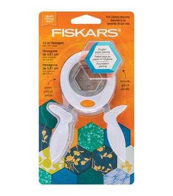 Fiskars 1.5'' Squeeze Punch & Acrylic Template-Hexagon