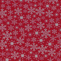 Christmas Cotton Fabric-Noel & Snowflakes on Red