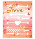 Creative Girl by Julie Comstock Watercolor Canvas Block Love You Arrows