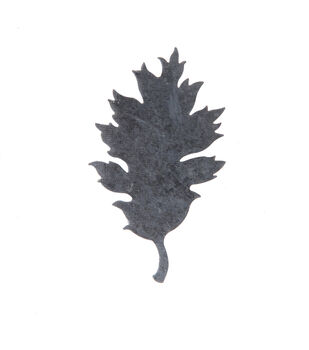 Simply Autumn Craft 2.6''x4.5'' Galvanized Skinny Leaf Icon
