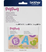 Brother ScanNCut SDX125 Lettering Collection-Pigpong, , hi-res