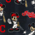 Cleveland Indians Fleece Fabric-Mickey