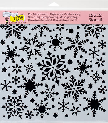 Crafter's Workshop Hot off the Press Template 12''x12''-Snowflakes