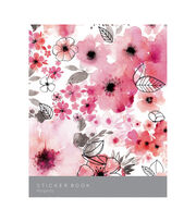 Kaisercraft Sticker Book 6''X8'' 12/Pages-Magenta, 6 Designs/2 Each, , hi-res