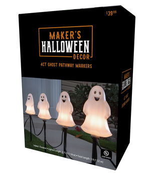 Maker's Halloween Decor 4 ct Ghost Pathway Markers