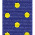 Offray Grosgrain Ribbon 1.5\u0027\u0027x9\u0027-Yellow Dippy Dots on Navy