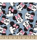 Disney Minnie Head Toss Chambray Fabric