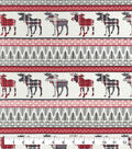 Snuggle Flannel Fabric-Patterened Trap Moose Stripe