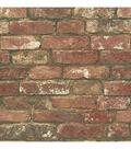 WallPops NuWallpaper Peel & Stick Wallpaper-West End Brick