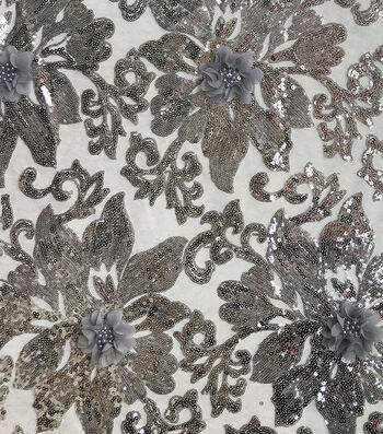 Gianna Sequins Embroidery on Mesh Fabric 56''
