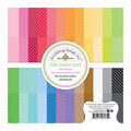Doodlebug Petite Prints Double-Sided Paper Pad 6x6-Dot Stripe Rainbow