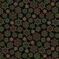 Christmas Cotton Fabric-Joyous Snowflake On Black Metallic