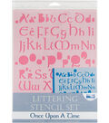 Blue Hills Studio  Lettering Stencil 4 Piece Sets-Once Upon A Time