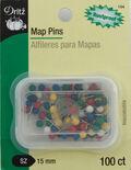 Map Pins-100/Pkg