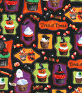 Halloween Cotton Fabric -Cupcake Treats