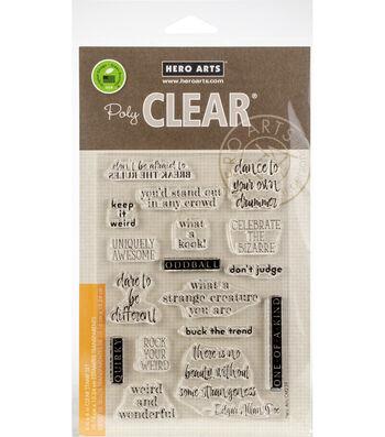 Hero Arts 17 pk Clear Stamps-Weird & Wonderful
