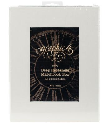 """Graphic 45 Staples Deep Matchbook Box-8.5""""X6.2""""X3"""""""