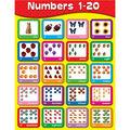 Carson-Dellosa Numbers 1-20 Chart 6pk