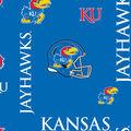 University of Kansas Jayhawks Fleece Fabric -Digital Camo