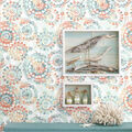 York Wallcoverings Wallpaper-Orange & Blue Bohemian