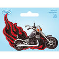 Wrights Iron-On Applique-Motorcycle