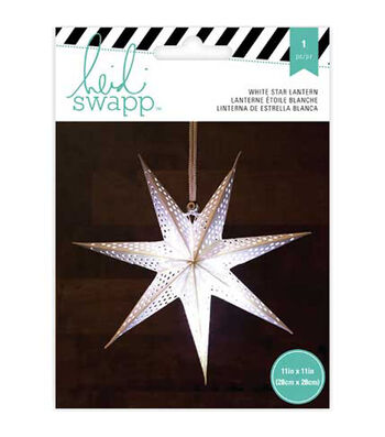 Heidi Swapp 7-Point 11'' Star Paper Lantern