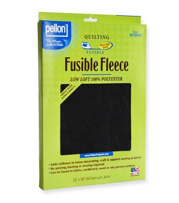 "Pellon 987FBPKG Fusible Fleece Black, 22"" x 36"" Packaged"