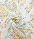 Stretch Chiffon Fabric 57\u0027\u0027-Floral Wallpaper on Ivory