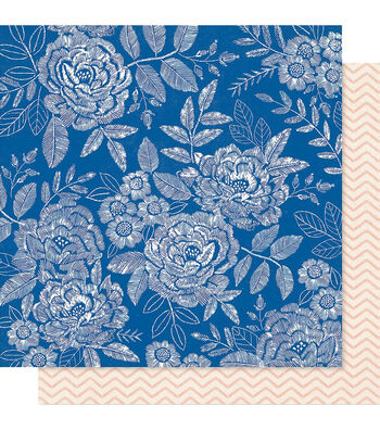 """Maggie Holmes Willow Lane Double-Sided Cardstock 12""""X12""""-Sweet Rose"""