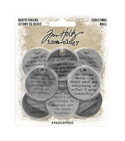 Idea-Ology Metal Quote Tokens 8/Pkg-Christmas, , hi-res